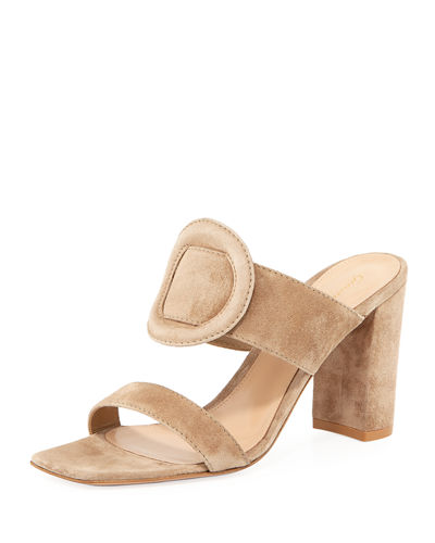 Ring-Detail Suede 85mm Slide Sandals