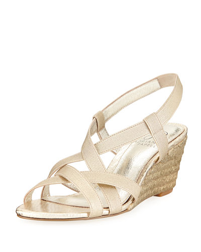 Elastic Stretch Wedge Sandal