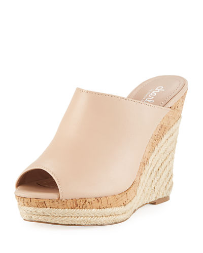 Azie High Wedge Sandal Mule