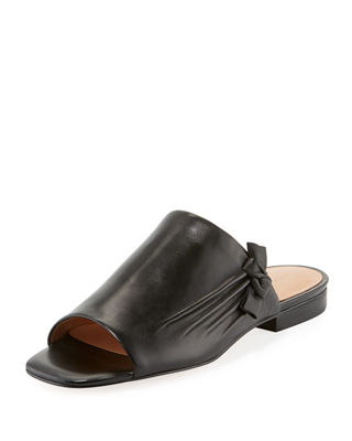 LORRIANE LEATHER BOW MULE