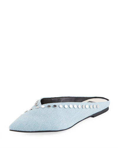 Ramsay Denim Studded Mule