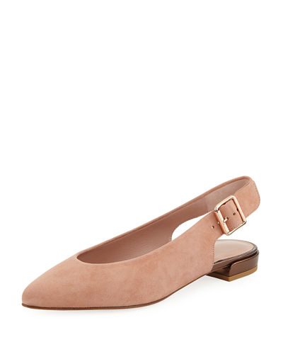 low price fee shipping Stuart Weitzman Satin Round-Toe Flats shop online free shipping visa payment footlocker finishline 2lOmBywoU