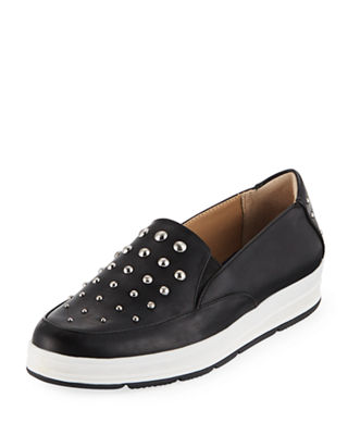 GOLDIE STUDDED GORED SNEAKERS