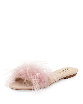 STRUT SUEDE FEATHER SANDAL