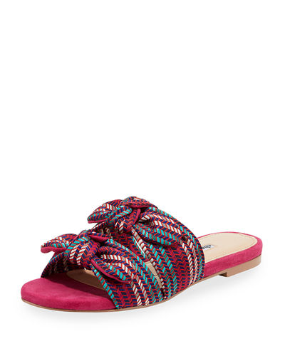 Souffle Bow Slide Sandals