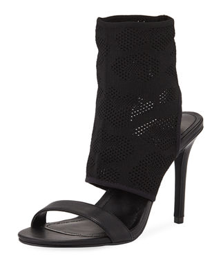 CHARLES BY CHARLES DAVID Remote Stretch Knit Bootie Sandal in Black