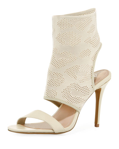 843d648160a Charles By Charles David Remote Stretch Knit Bootie Sandal In Ivory ...