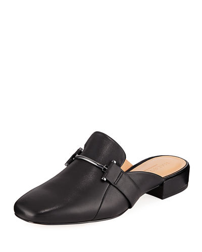 Romina Leather Horsebit Mule