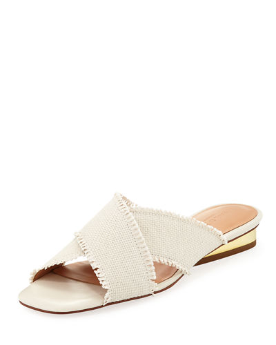 Estella Canvas Crisscross Mule