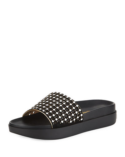 Karl Lagerfeld Paris Kaylee Metallic Pool Sandal