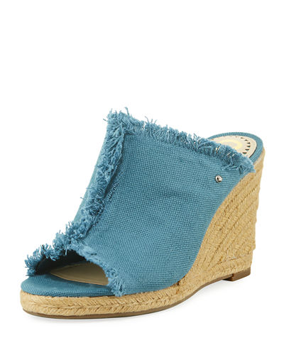 Baker Fabric Frayed Sandal