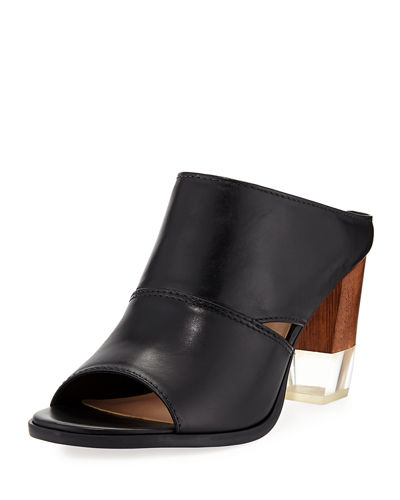 Edgy Leather High Sandal