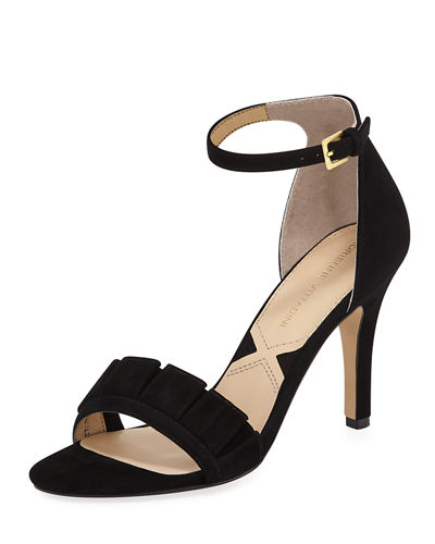 Gabi Suede Mid-Heel Dress Sandal