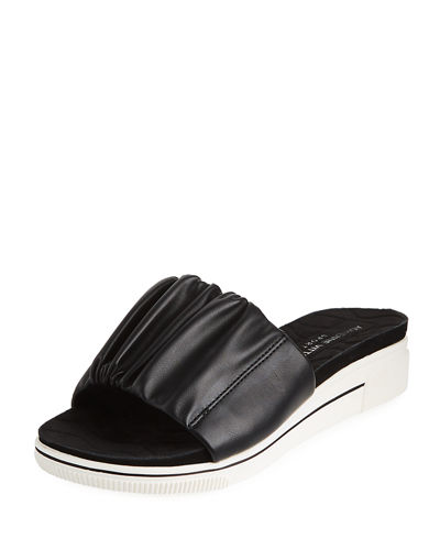 Curtis Ruched Slide Sandal