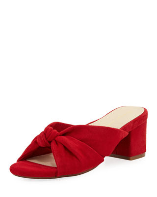 BETTYE MULLER CONCEPT Floyd Knotted Slide Mule in Red