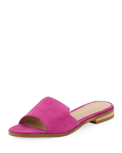 Hailey Suede Low Slide Sandal
