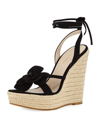 Olena Flower Wedge Sandal