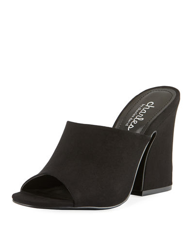 Hector High-Heel Sueded Mule Sandal