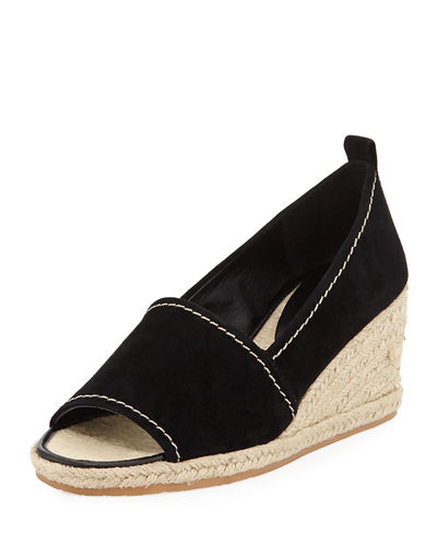 Chriss Suede Wedge Espadrille Sandal
