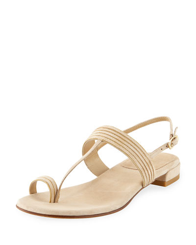 Tracks Flat Chain/Suede Sandal