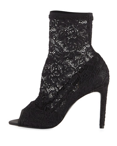 Imaginary Peep-Toe Bootie Pump