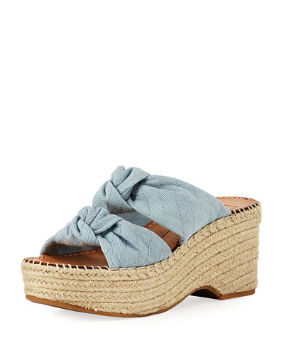 Lera Two-Band Wedge Sandal
