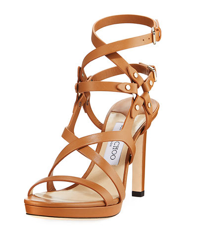 Monica 100mm Leather Harness Sandals