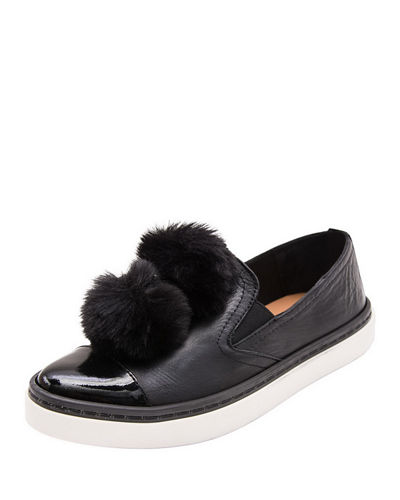Andre Assous DNA Gored Slip-On Sneaker w/ Faux-Fur