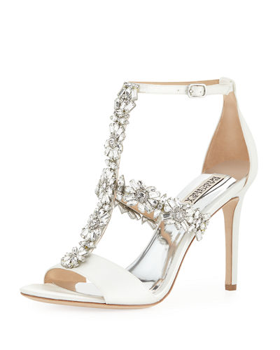 Munroe Embellished T-Strap Dress Sandal