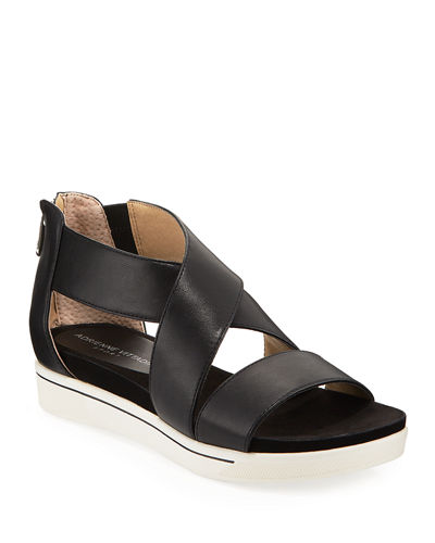 Claud Sport Leather Crisscross Sandal
