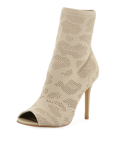 Ranger Stretch-Knit Peep-Toe Bootie