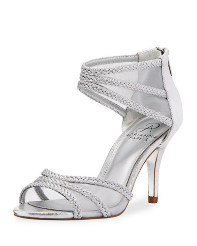 Atlas Mesh/Metallic-Rope High-Heel Evening Sandal