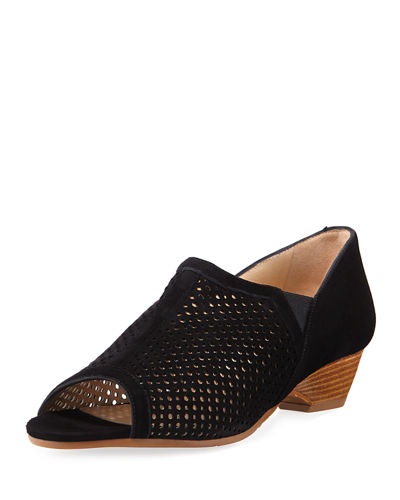 Dinamo Perforated Suede Sandals