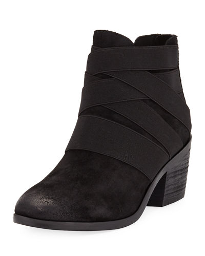 Eileen Fisher Willis Suede Stretchy Booties