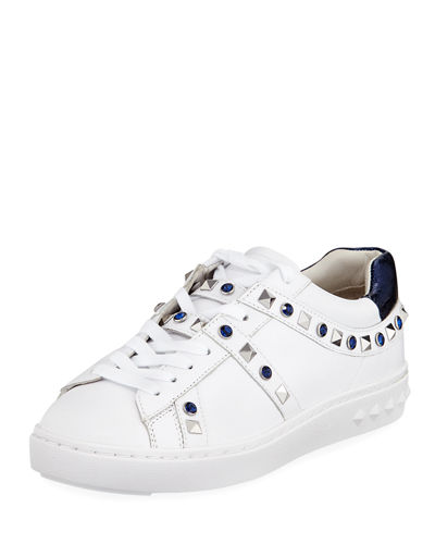 Ash Play Studded Leather Low-Top Sneakers