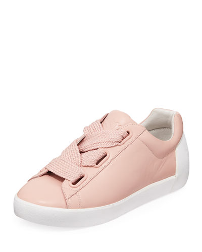 Ash Nina Oversized-Lace-Up Leather Sneakers