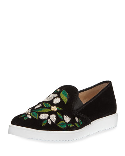 Candice Embroidered Slip-On Sneaker