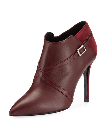 Charles David Laura Point-Toe Stiletto Booties with Strap