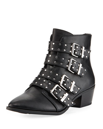 Hutton Studded Buckle Booties