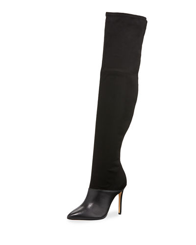 Donny Suede & Leather Over-The-Knee Boots
