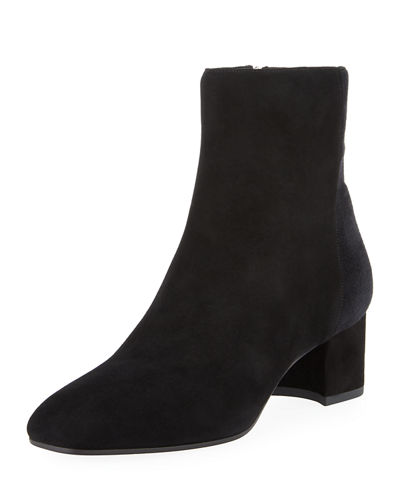 Aquatalia Josie Two-Tone Suede Booties