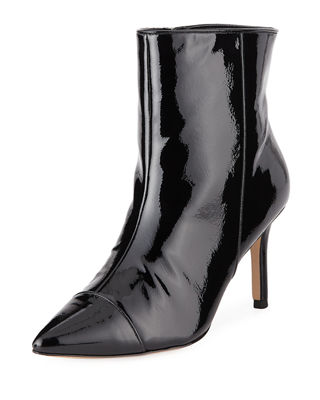 BCBG Miriam Patent Faux-Leather Boots in Black