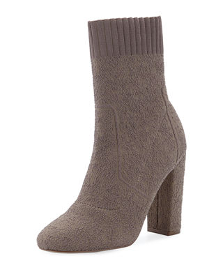 Iceland Stretch Tall Booties, Nude Fabric