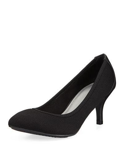 Elie Tahari Tacey Low-Heel Knit Pumps