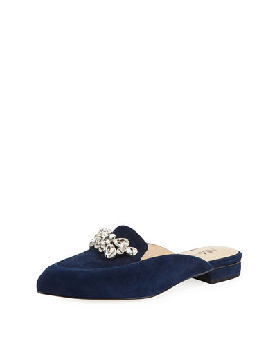Darla Embellished Loafer Mules