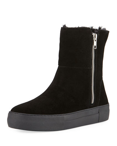 JSlides Allie Suede High-Top Zip Sneakers