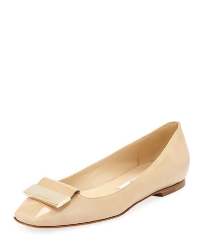 Jimmy Choo Harlow Patent Leather Ballet Flats