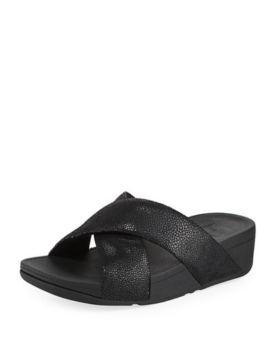 ca831e7e7042 Fitflop Swoop Suede Slide Sandal
