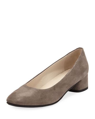 Record Metallic Leather Low Pump