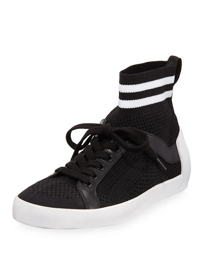 Ash Knit Mesh Lace-Up Sneakers